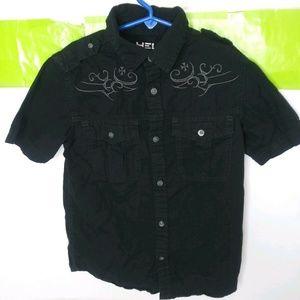 Helix Short Sleeve Button Front Shirt